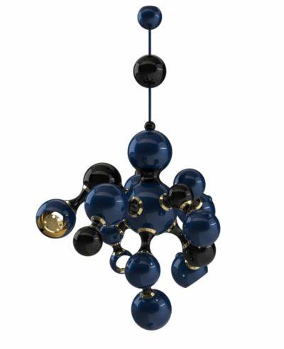 Atomic suspension lamp