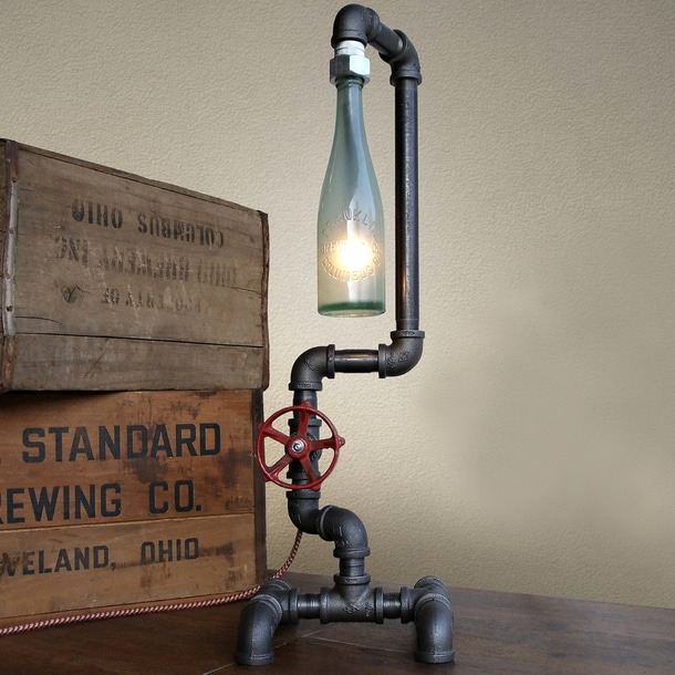 Fuse Industrial DIY Pipe Lamp Table Lamps