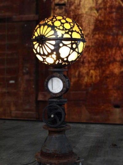 Globe Steampunk Lamp-1