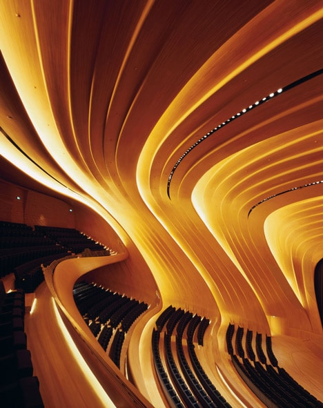 Heydar Aliyev Centre By Zaha Hadid Id Lights