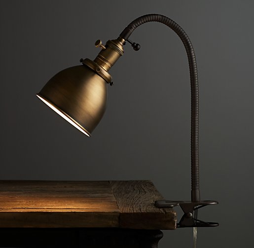 industrial era vintage clip desk lamp id lights. Black Bedroom Furniture Sets. Home Design Ideas