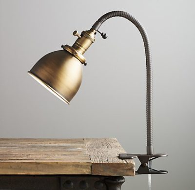 Industrial era clip lamp