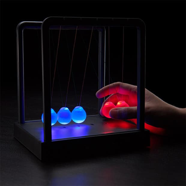 LED Light-up Newton's Cradle Desk Lamp Desk Lamps