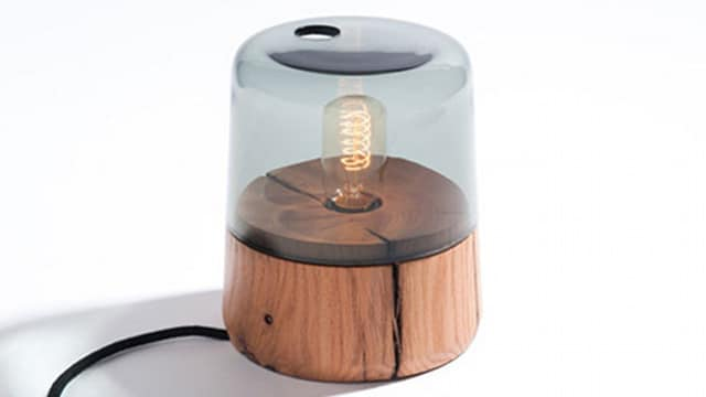 Marine-Inspired Oak Table Lamp Table Lamps