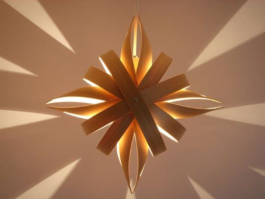 Organic Wood Pendant Lighting - wood-lamps, pendant-lighting