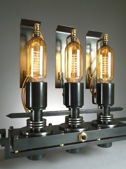 Steampunk 3 lights Industrial Table Lamp - table-lamps