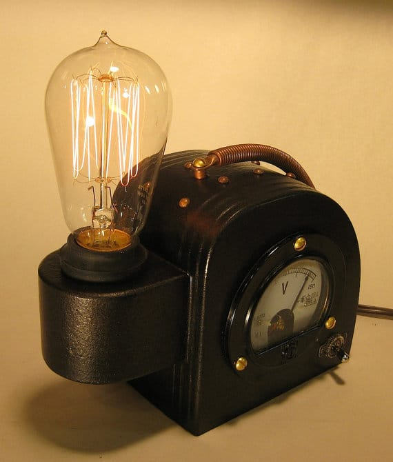 Steam Punk Edison Table Lamp • iD Lights