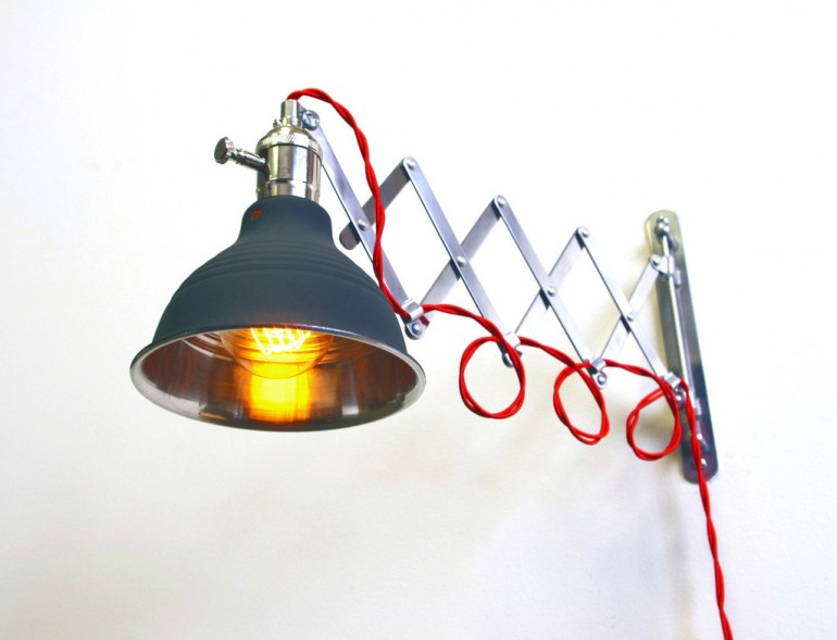 Steam Punk Scissor Industrial Wall Sconce Wall Lamps & Sconces