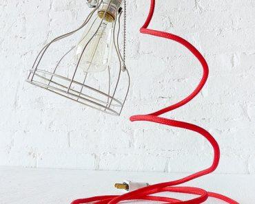 Vintage Machine Age Clip Cage Light