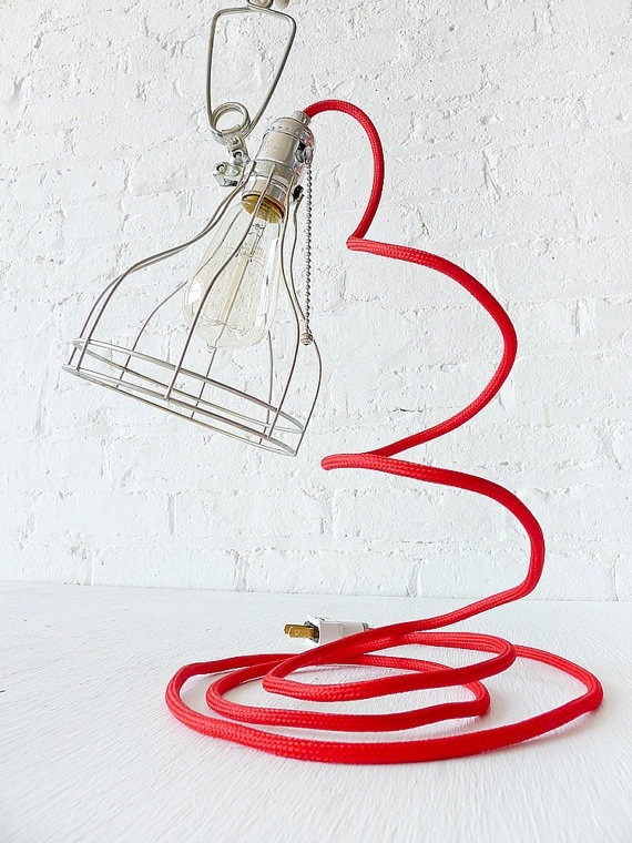 Vintage Machine Age Clip Cage Desk Lamp - desk-lamps
