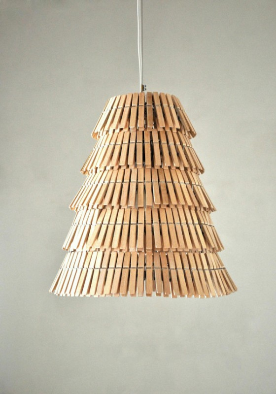 Clothespins Pendant Lighting Pendant Lighting Wood Lamps