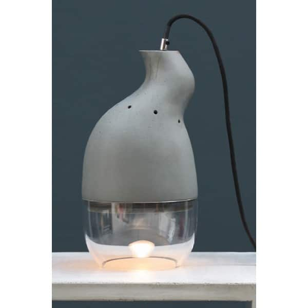 Concrete Home Design Table Lamp - table-lamps