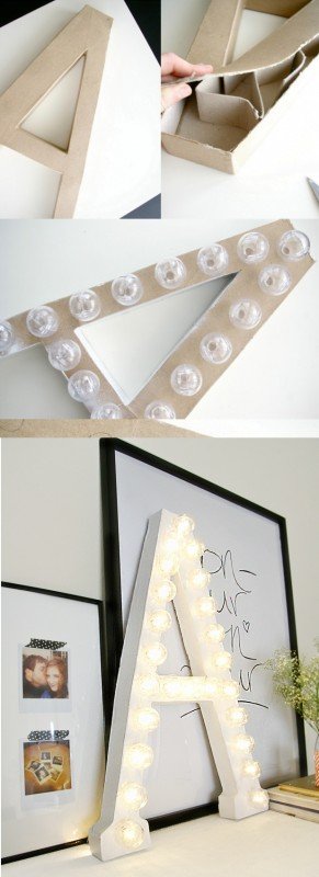 DIY Marquee Letters Wall Sconces Wall Lamps & Sconces Wood Lamps