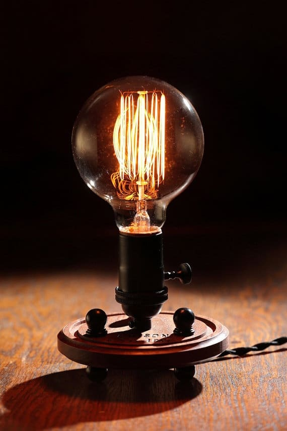 Edison Industrial Table Lamp Id Lights