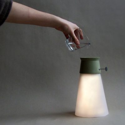 Lamp powered by water