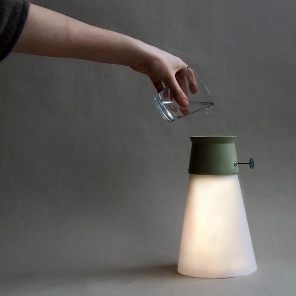 Modern Floor Lamp Powered by Water - floor-lamps
