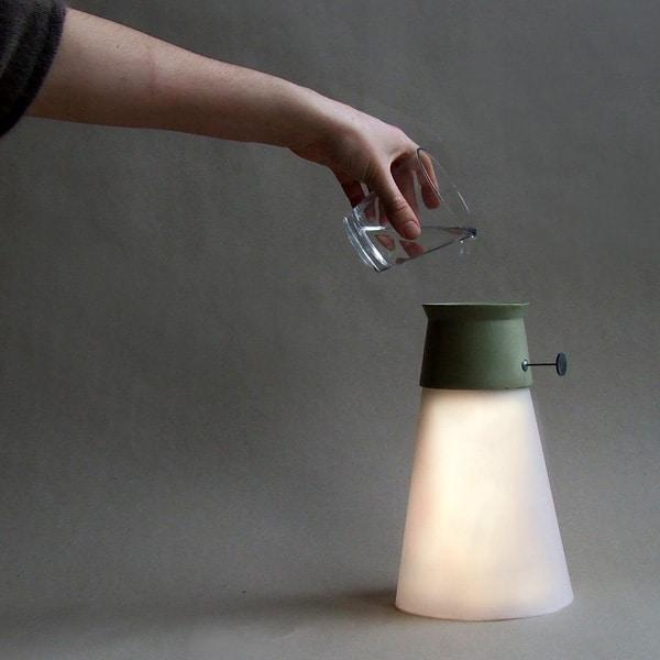 Modern Floor Lamp Powered by Water - floor-lamps