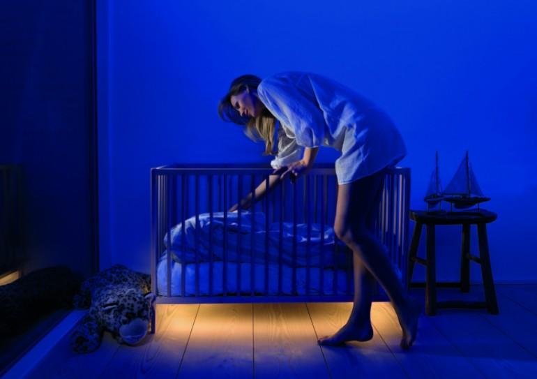 Modern Motion Sensor LED Strip Lighting Floor Lamp - floor-lamps