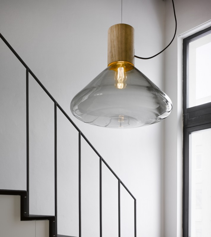 Muffins Design Oak Pendant Lamp - pendant-lighting