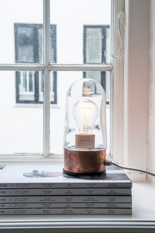 Small Copper Table Lamp - table-lamps