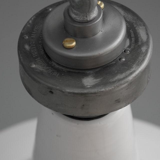 Vintage British Factory Pendant Lighting - pendant-lighting