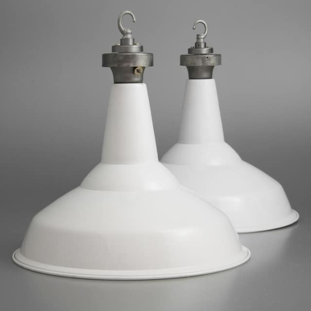 Vintage British Factory Pendant Lighting - pendant-lighting