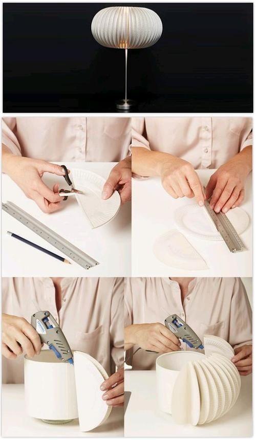 DIY Paper Plates Pendant Lighting