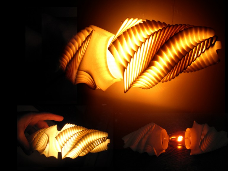 3d Printed Air Turbine Table Lamp - table-lamps