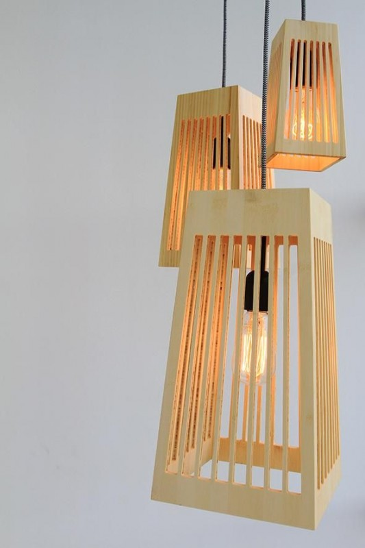 Antelope Wood Pendant Lighting - wood-lamps, pendant-lighting