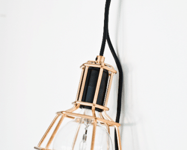 Copper hand lamp