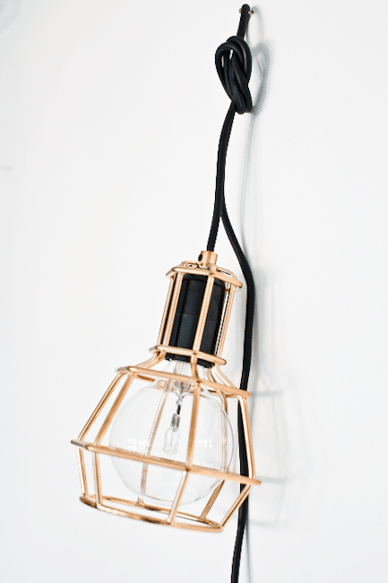 Copper hand lamp