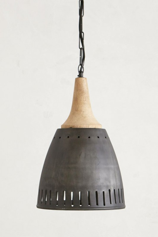 Alden Island Wood Metal Pendant Lighting - pendant-lighting