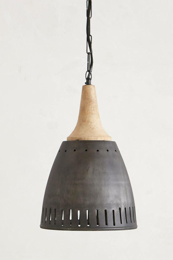 Alden Island Wood Metal Pendant Lighting Id Lights