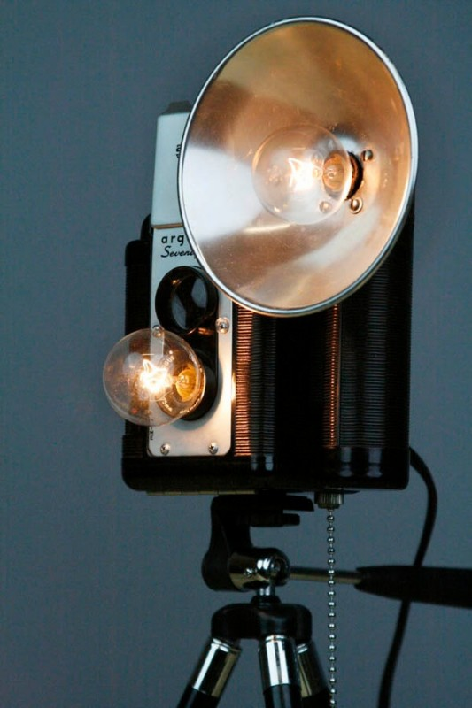 Upcycled Vintage Camera Floor Lamp Floor Lamps