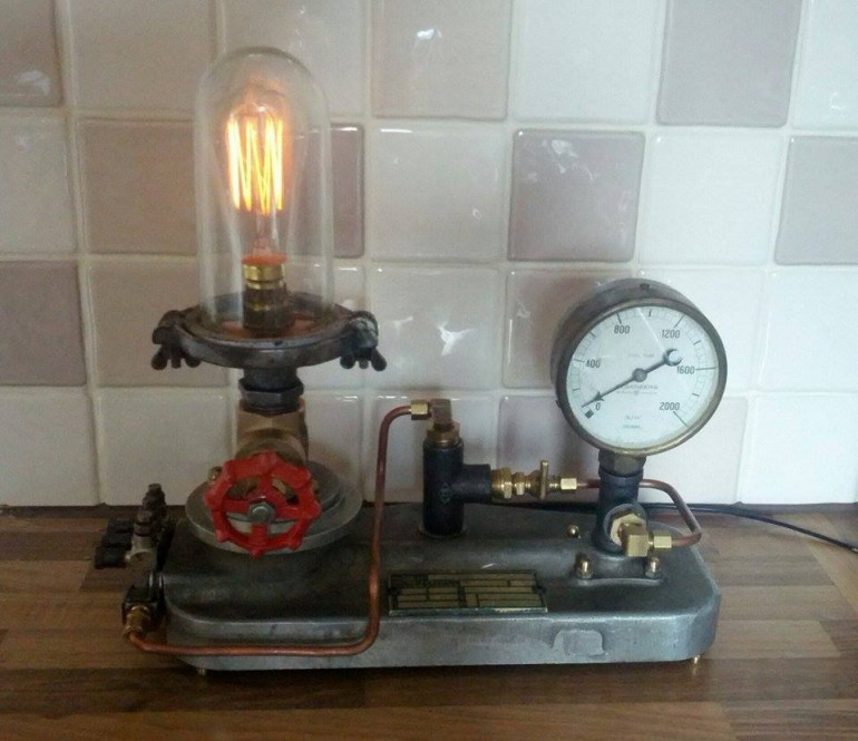 Hall Upcycled Table Lamps Desk Lamps