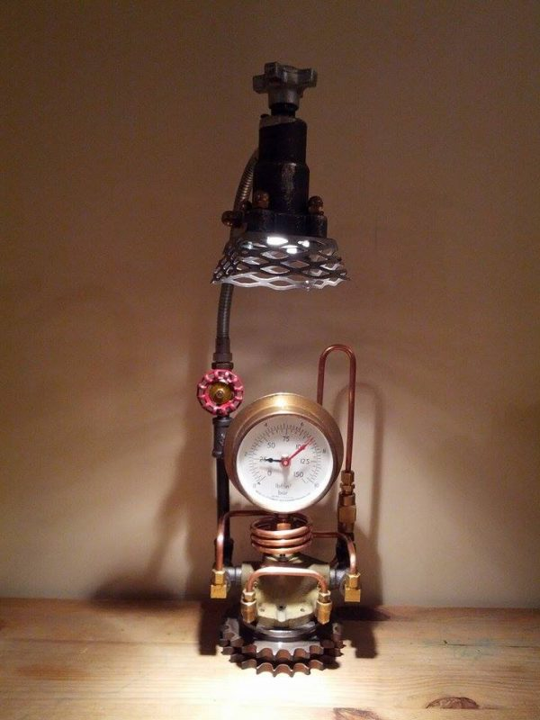 Hall Upcycled Table Lamps - desk-lamps