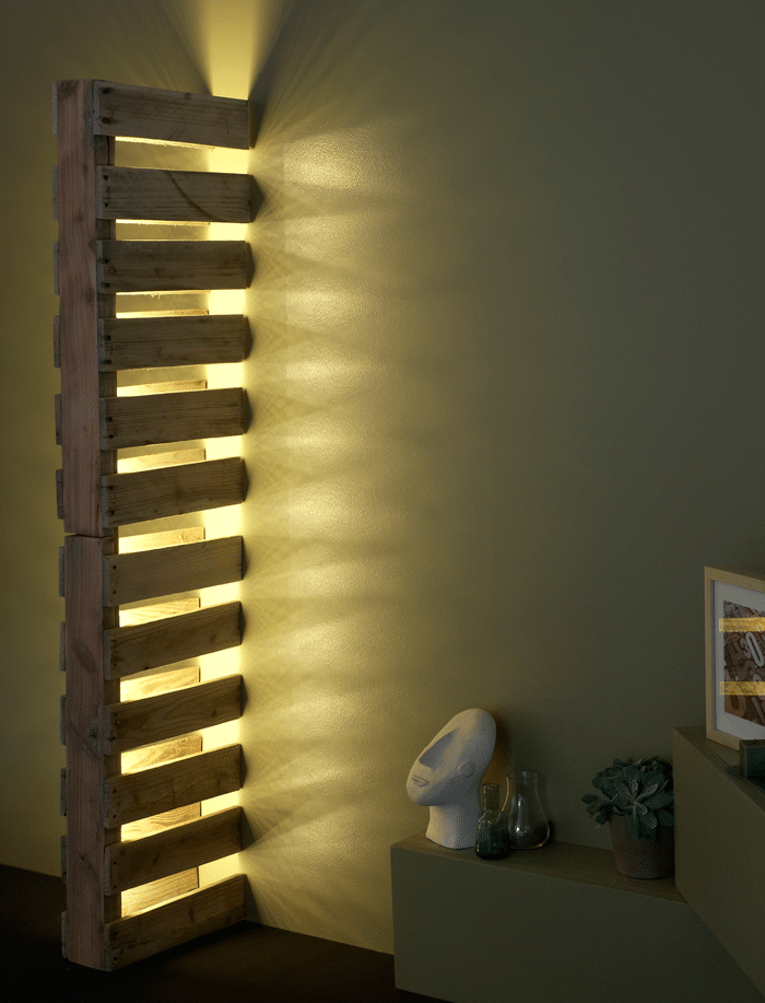 Simple Wall Pallet Lamp DIY Tutorial Wall Lamps & Sconces Wood Lamps