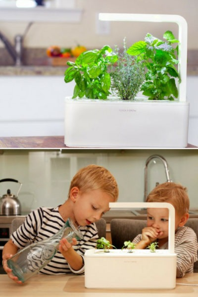 Smart Herb Garden Kitchen Table Lamp