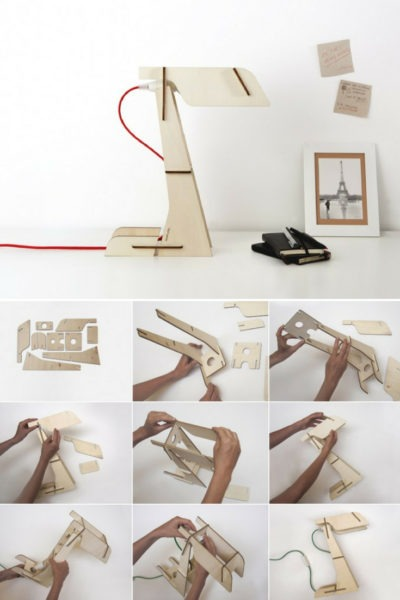 Zeta Wood DIY LED Desk Lamp
