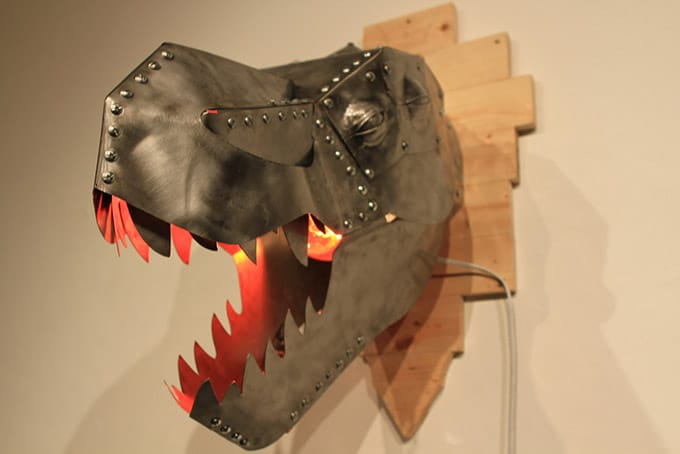 T Rex Metal Wall Sconce Id Lights