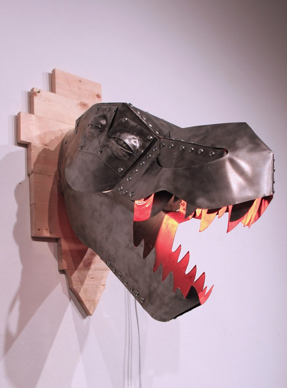 T-Rex Metal Wall Sconce Wall Lamps & Sconces Wood Lamps