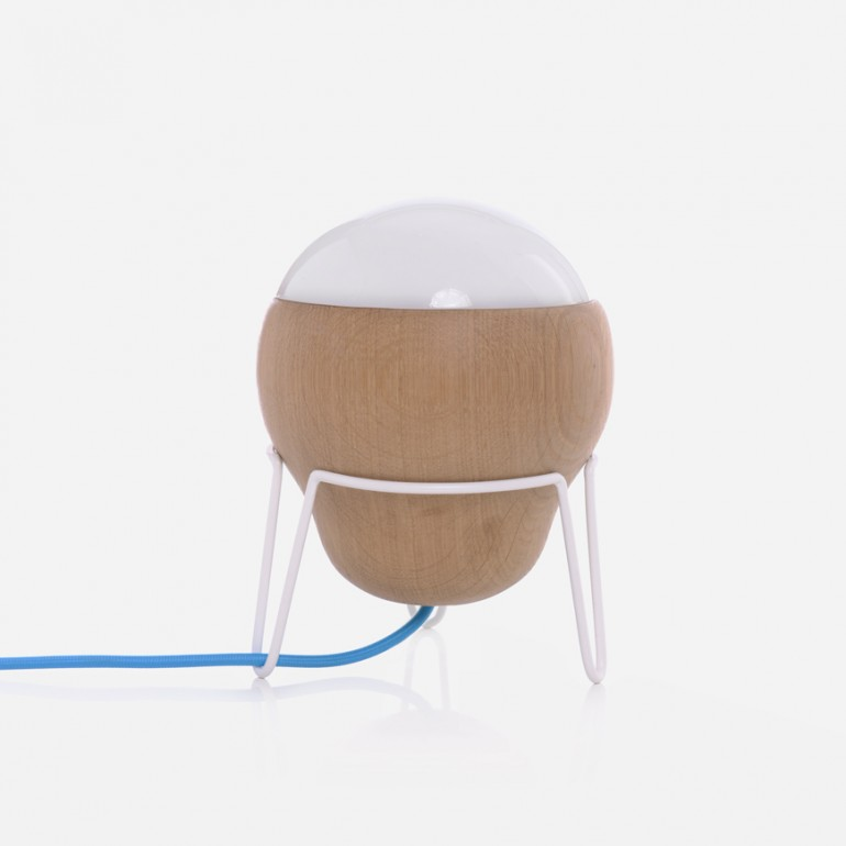 Wood Globe Modern Table Lamp - wood-lamps, table-lamps