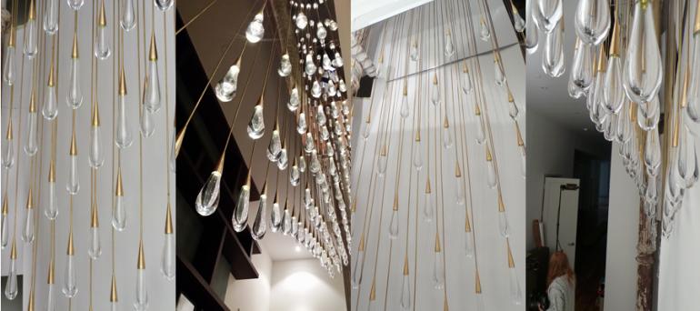 Raindrop chandelier - chandeliers