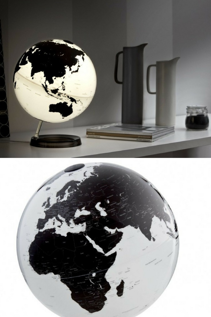 World Globe Bedside Desk Lamp