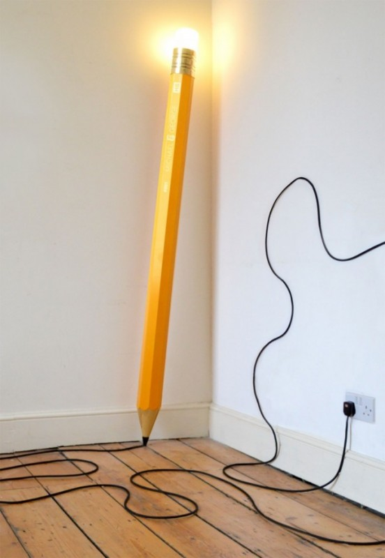 HB Pencil Floor Lamp Floor Lamps