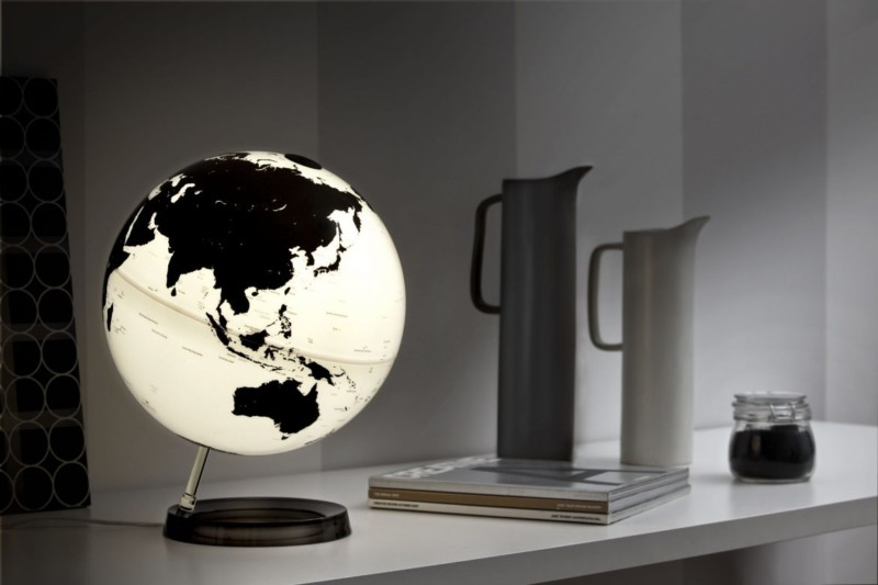 World Globe Bedside Desk Lamp Id Lights