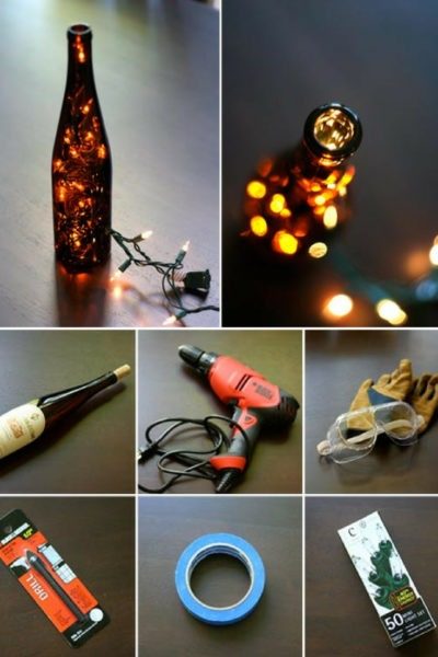 DIY: Wine Bottle Table Lamp
