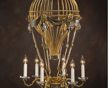 Air balloon chandelier