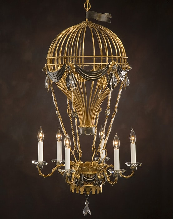 Air Balloon Antique Chandelier - chandeliers