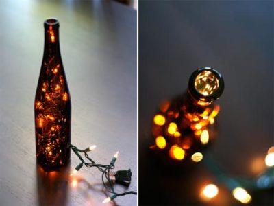 DIY: Wine Bottle Light